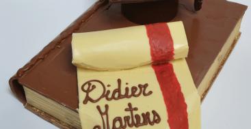 Chocolade sierstuk: Afgestudeerd